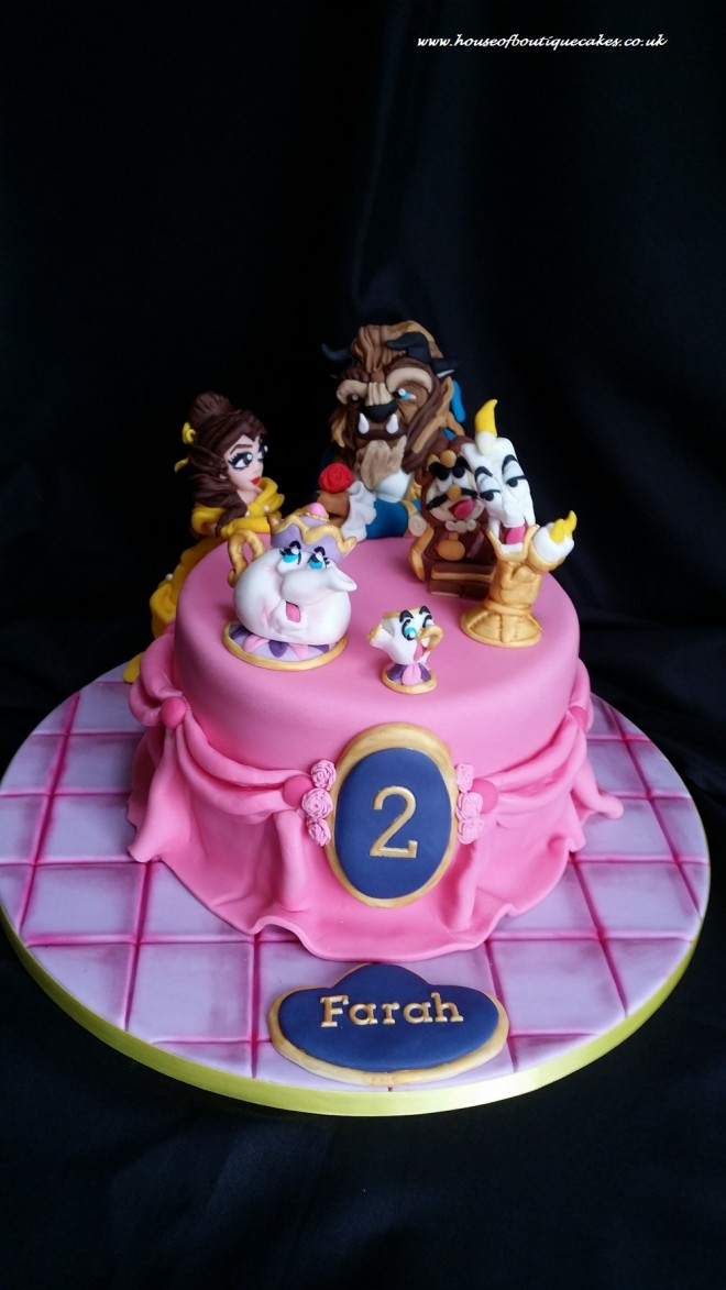 Beauty and the Beast Disney Themed Cake