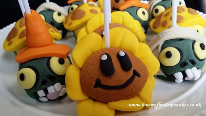 Plants v Zombies Cake Pops