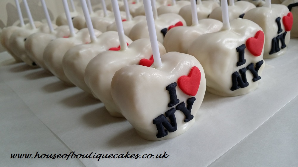 Kiehl's I Love NY Themed Cake Pops