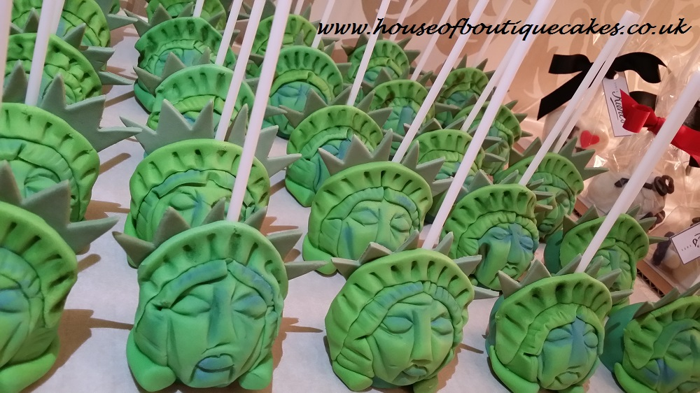 Kiehl's Statue of Liberty Cake Pops