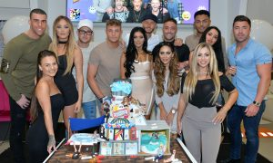 LONDON, ENGLAND - MAY 24:  Charlotte-Letitia Crosby, Holly Hagan, Chloe Etherington, Chantelle Connelly, Marnie Simpson, Sophie Kasaei, Aaron Chalmers, Nathan Henry, Scott Timlin, Marty McKenna, James Tindale and Dan Thomas-Tuck of Geordie Shore celebrate their fifth birthday at MTV London on May 24, 2016 in London, England.  (Photo by Anthony Harvey/Getty Images) *** Local Caption *** Charlotte-Letitia Crosby; Holly Hagan; Chloe Etherington; Chantelle Connelly; Marnie Simpson; Sophie Kasaei; Aaron Chalmers; Nathan Henry; Scott Timlin; Marty McKenna; James Tindale; Dan Thomas-Tuck