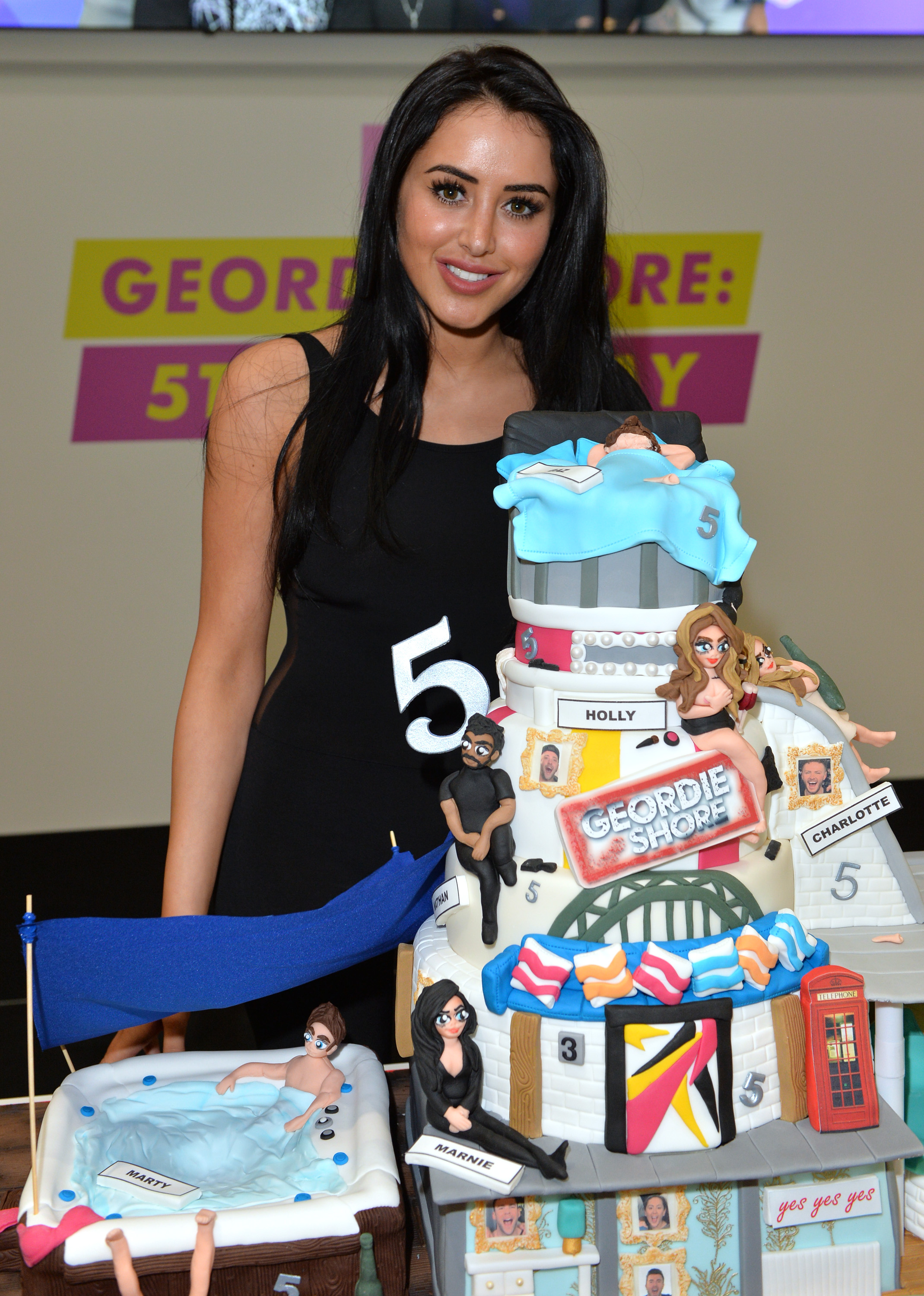 LONDON, ENGLAND - MAY 24: Marnie Simpson of Geordie Shore celebrate their fifth birthday at MTV London on May 24, 2016 in London, England. (Photo by Anthony Harvey/Getty Images) *** Local Caption *** Marnie Simpson