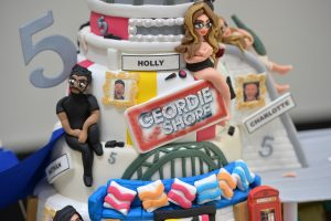 LONDON, ENGLAND - MAY 24:  Birthday Cake for the Geordie Shore Cast to celebrate their fifth birthday at MTV London on May 24, 2016 in London, England.  (Photo by Anthony Harvey/Getty Images)